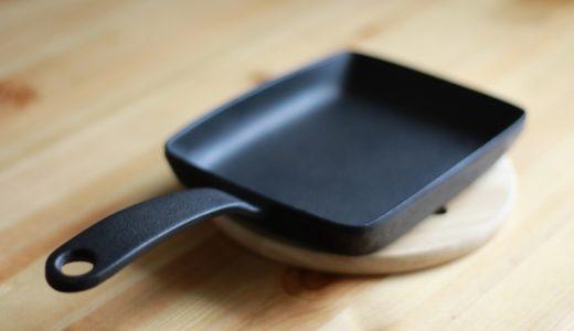 及源(南部鉄器)の玉子焼きフライパン。卵焼きの特徴と使用感。