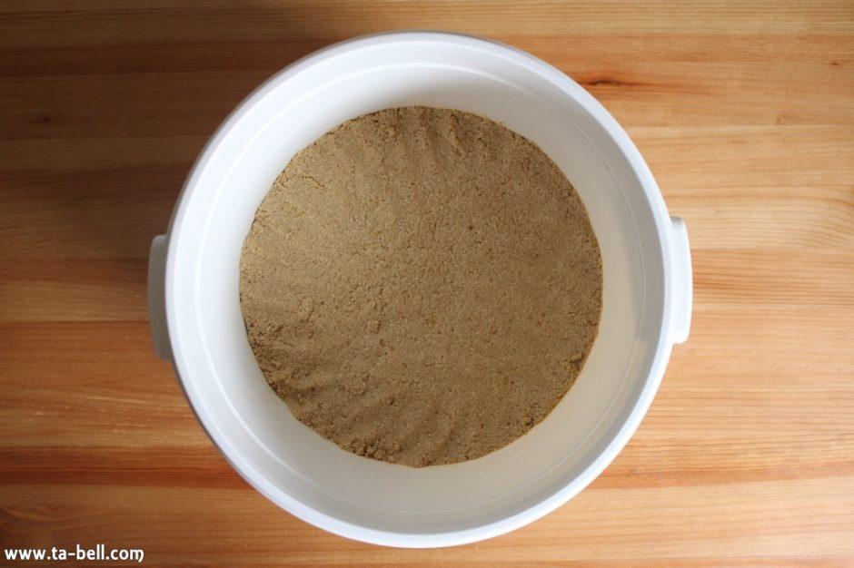 糠床の越冬(冬眠)方法
